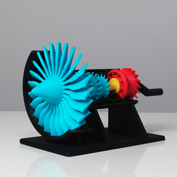 Z-ABS Jet Engine 3D Print 3dhub.gr