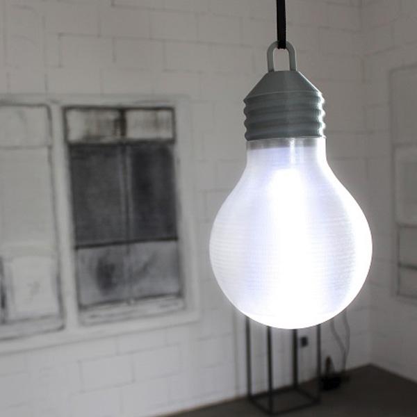 Z-Glass 3D Printed Bulb 3dhub.gr