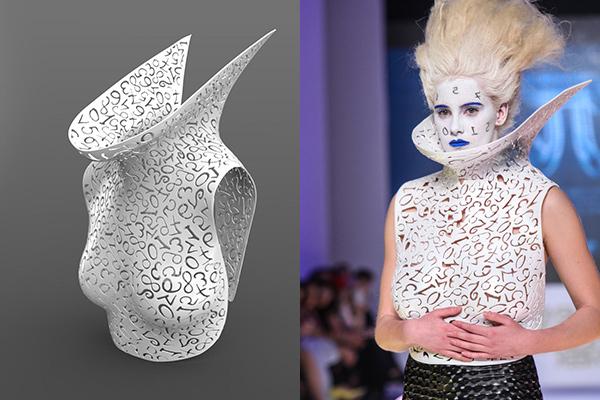 3D Printed Ρούχα Κωνσταντίνος Μητροβγένης Fashion Show 3dhub.gr