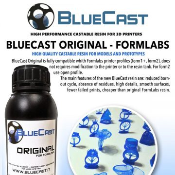 Blucast Original Formlabs Castable Resin 3DHUBgr