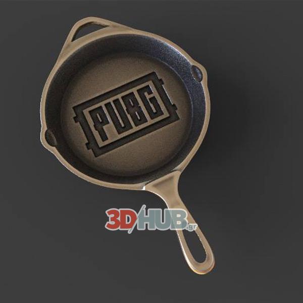 PUBG Player Unknown's Battleground 3D Printed Pan 3DHUB.gr