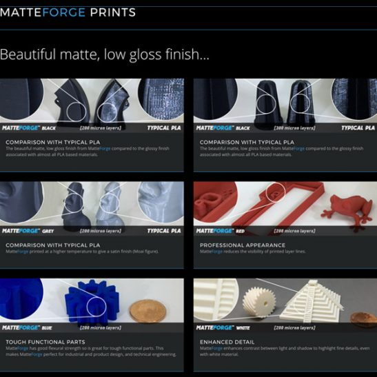 MatteForge-PLA-prints-3DHUBgr
