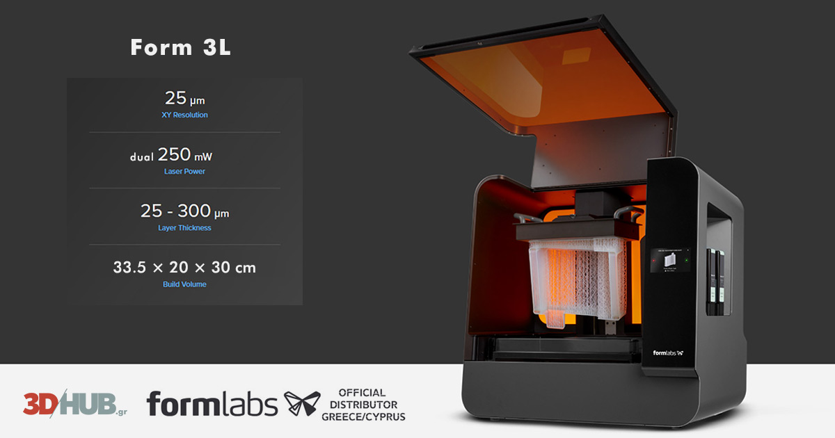 Formabs Form 3 Form 3L 3D printer 3DHUB.gr