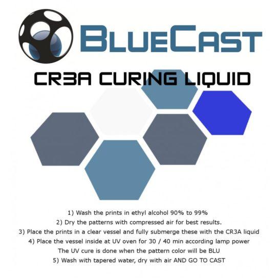Bluecast Cr3a LCD castable resin curing liquid 3DHUB.gr